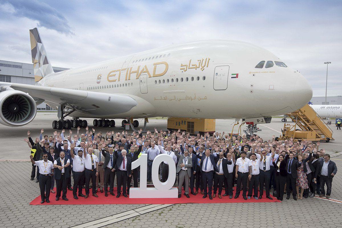 Airbus A380 Etihad Airways