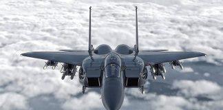 Boeing F-15EX nas cores da Força Aérea dos EUA.