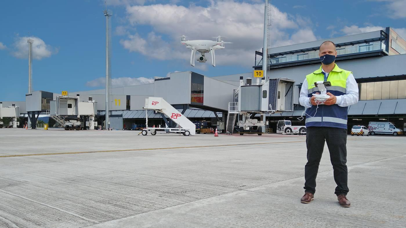 Aeroporto de Florianópolis drone