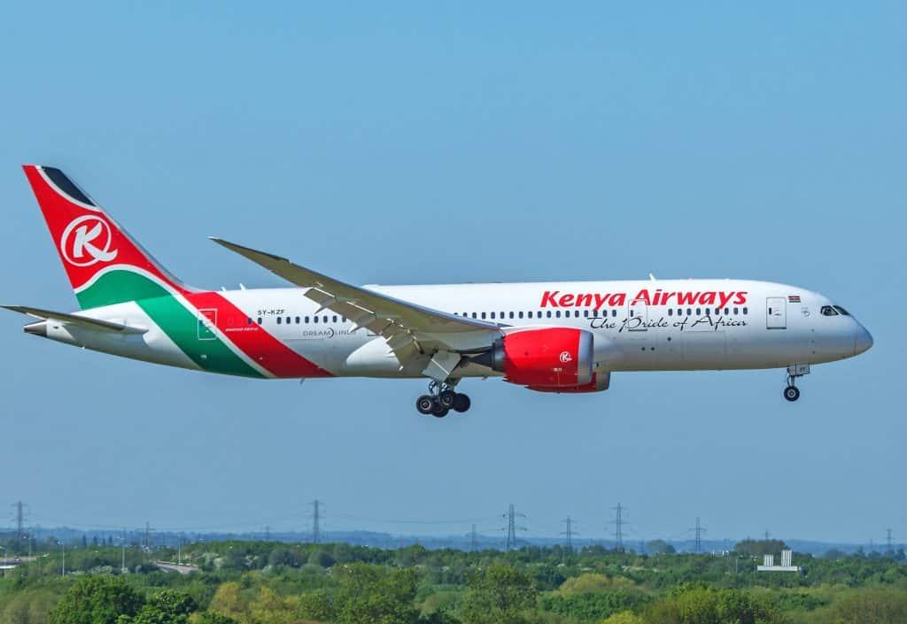 Kenya Airways Boeing 787 Quênia