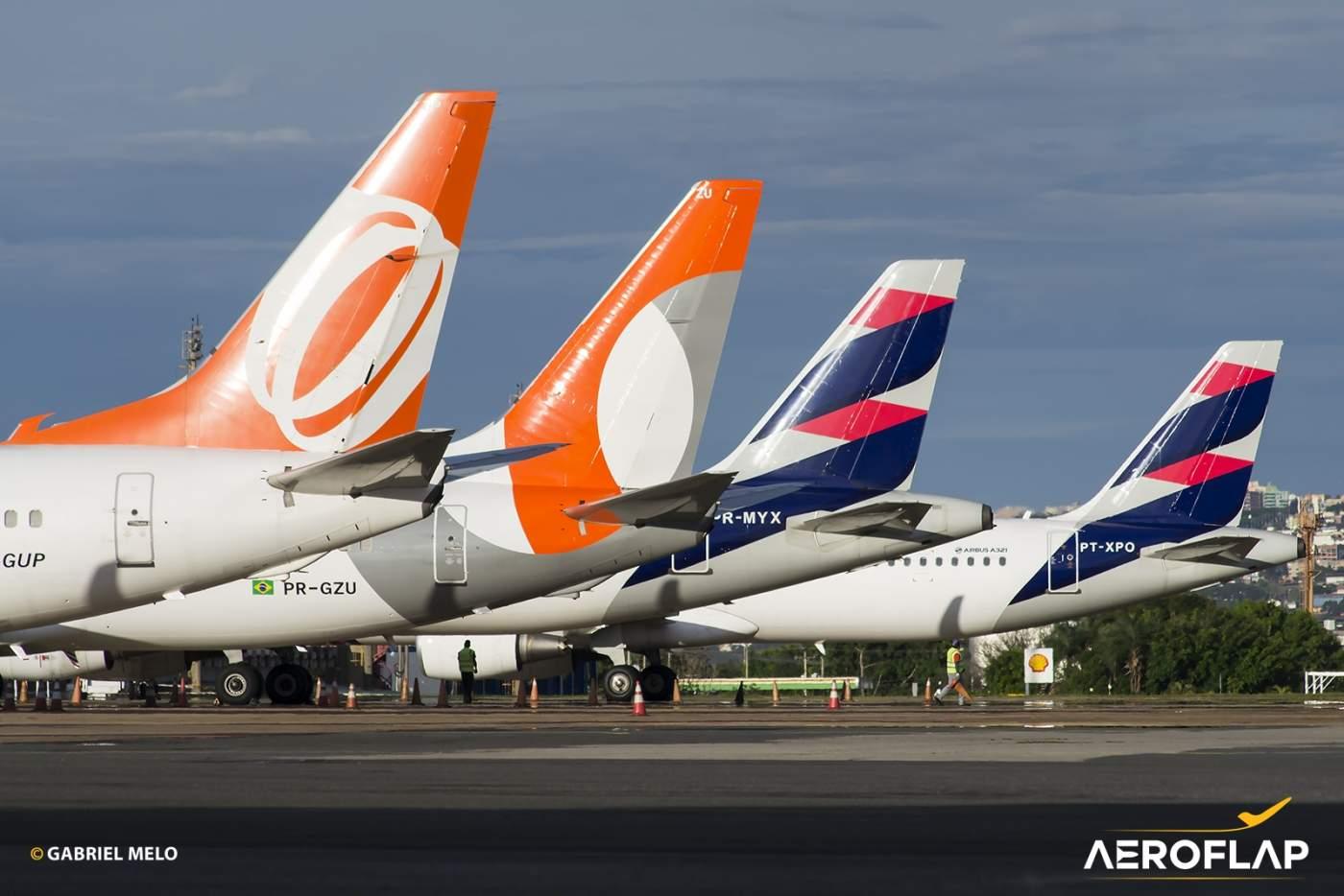 GOL LATAM Airbus Boeing companhias aéreas Brasilia