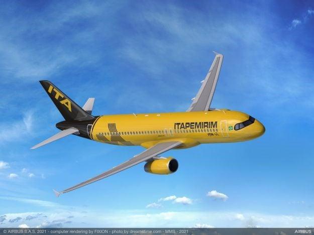Itapemirim Airbus A320 PS-SPJ ITA Transportes Aéreos