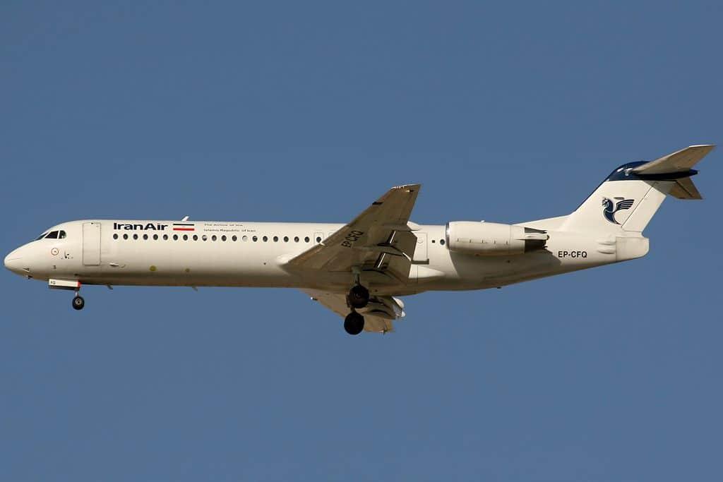 Irã Iran Air Fokker 100
