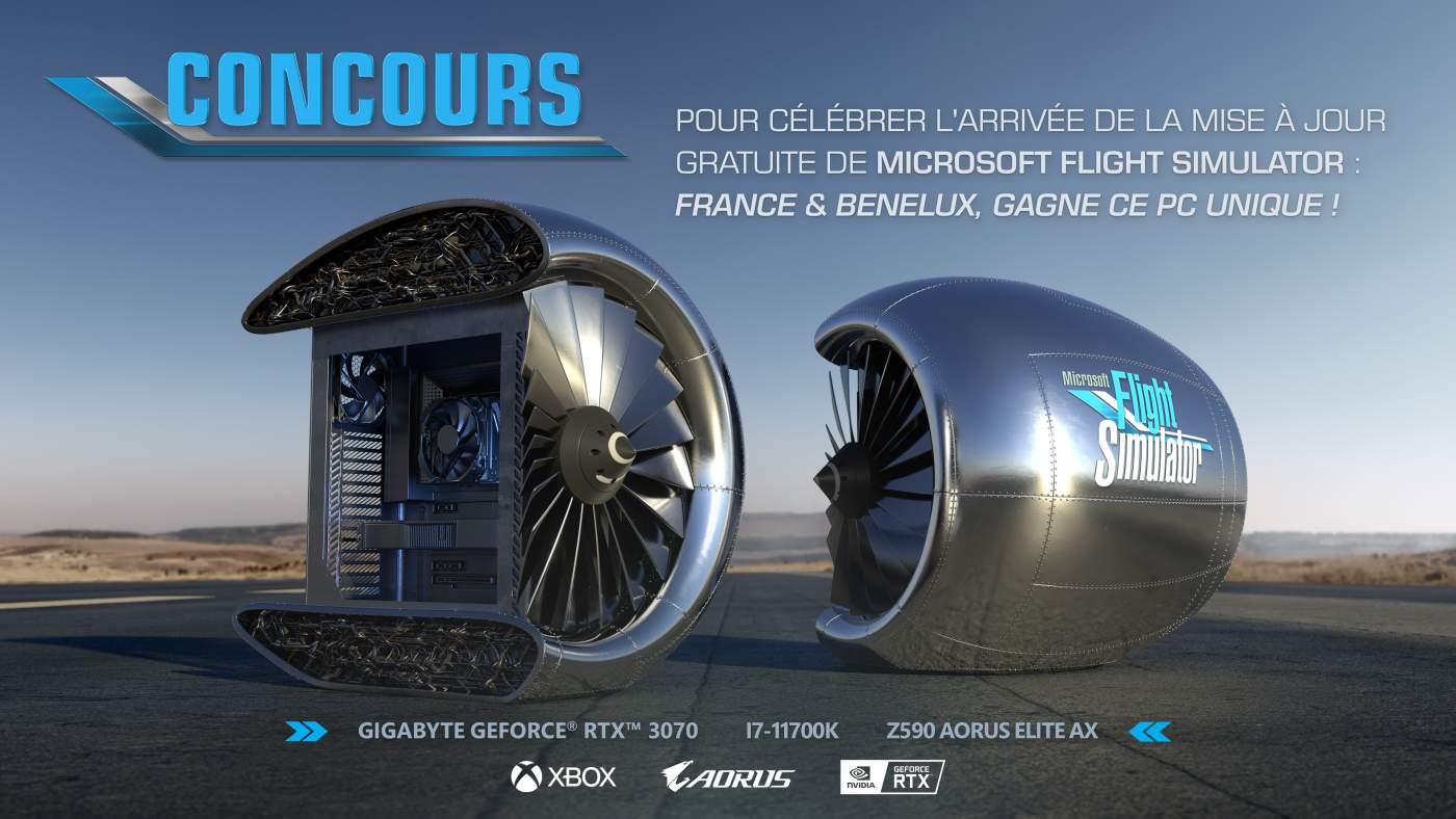 Computador do Microsoft Flight Simulator