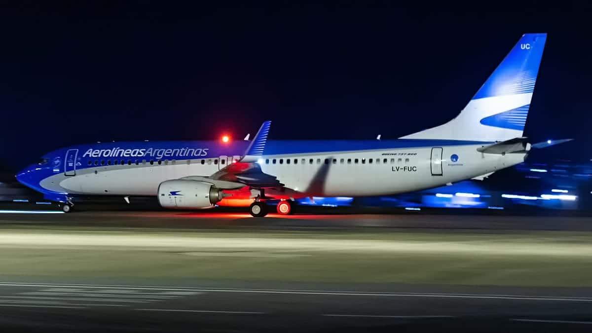 Boeing 737-800 Aerolíneas Argetinas Fortaleza Copa Sul-Americana