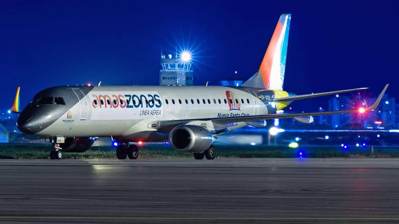 Embraer 190 Amaszonas Bolívia Bolívar Copa Sul-Americana Fortaleza